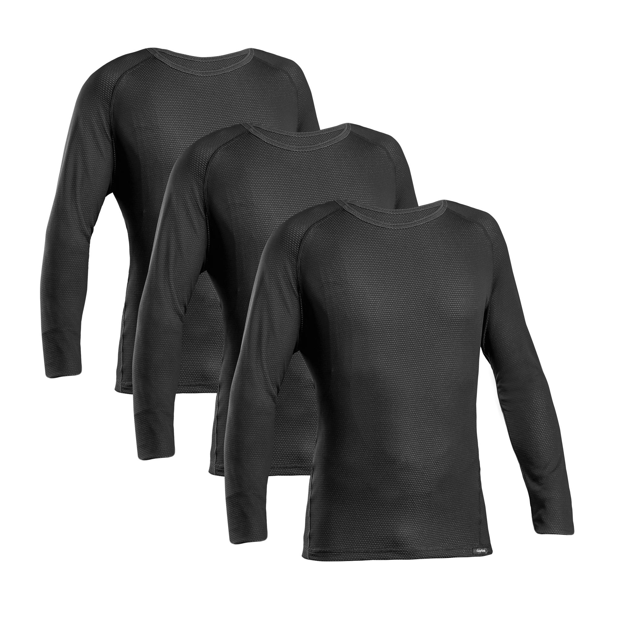 Afbeelding GripGrab Ondershirt Lange mouwen Zwart 3 PACK  / Ride Thermal Base Layer LS Black 3 PACK
