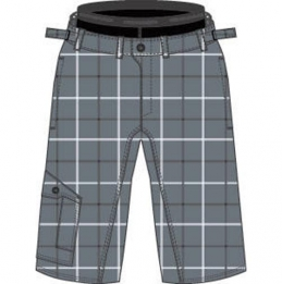 Cannondale Rush baggy short check grey zoom