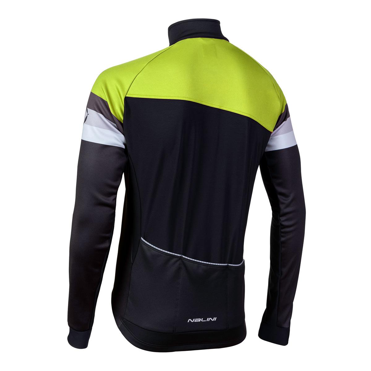 Afbeelding Nalini Fietsjack Heren Zwart Fluo - AIW CRIT WARM JACKET 2.0 WINTER JACKET BLACK/NEON YELLOW