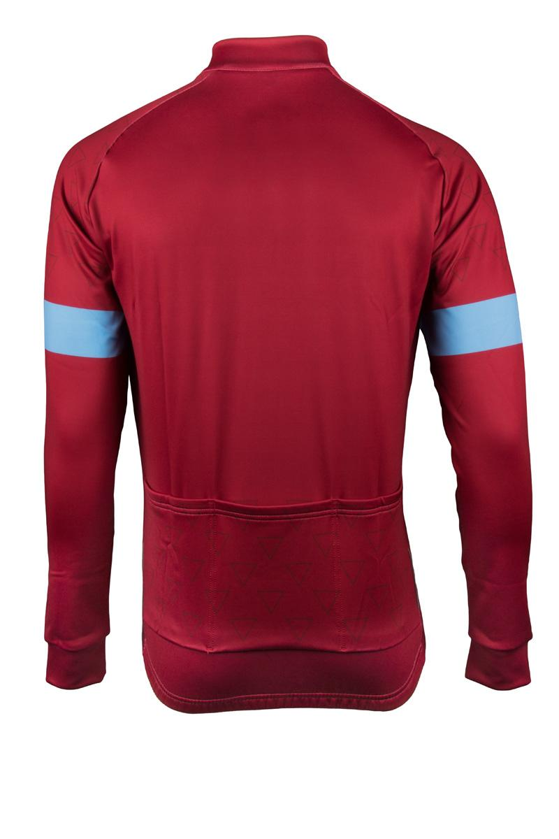 Vermarc Fietsshirt lange mouwen Heren Bordeaux rood Blauw / ATTACO Long Sleeves NEW - Fuchia/Blue