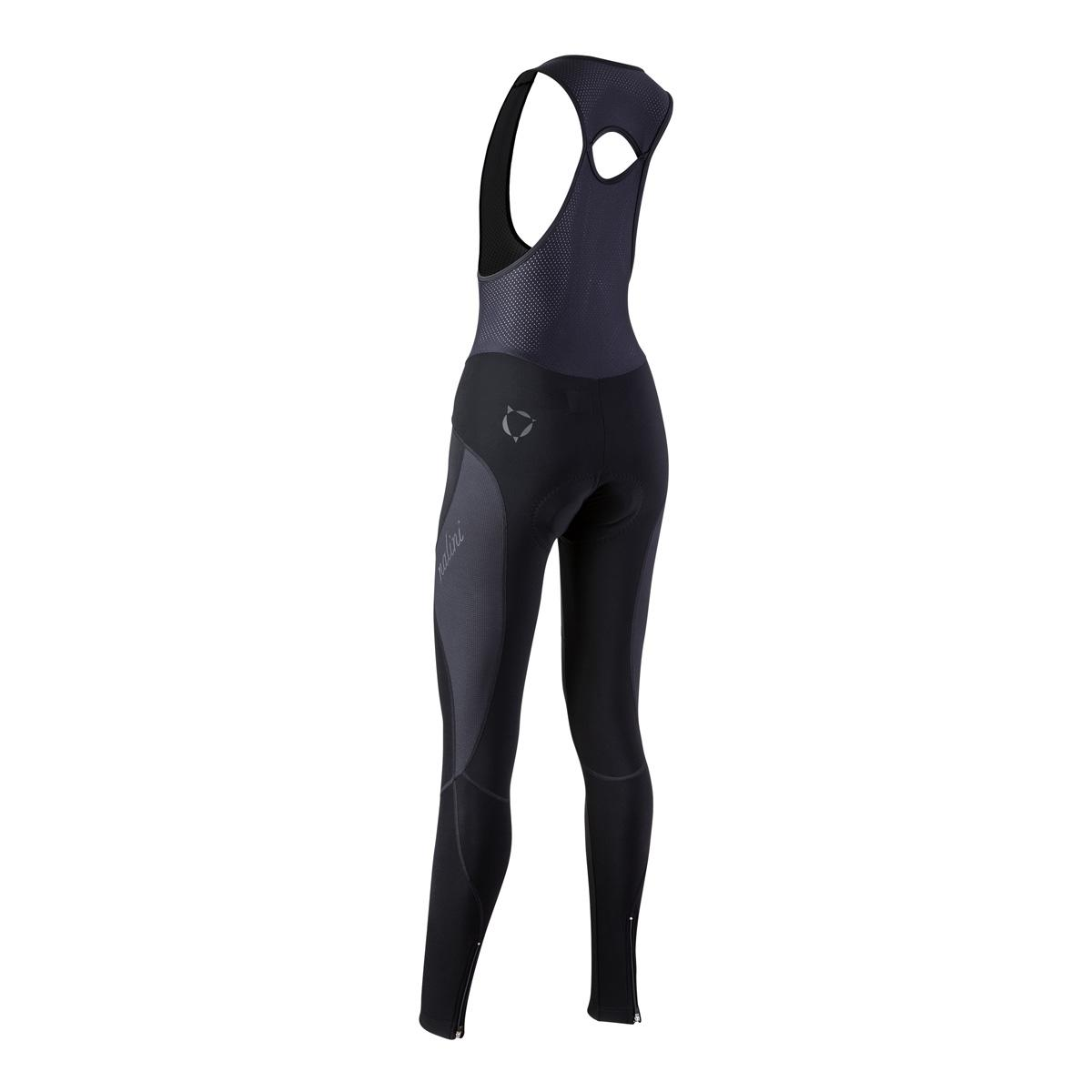 Afbeelding Nalini Fietsbroek lang met bretels Dames Zwart  - AIW LADY BIB TIGHT 2.0  WINTER BIB TIGHT BLACK