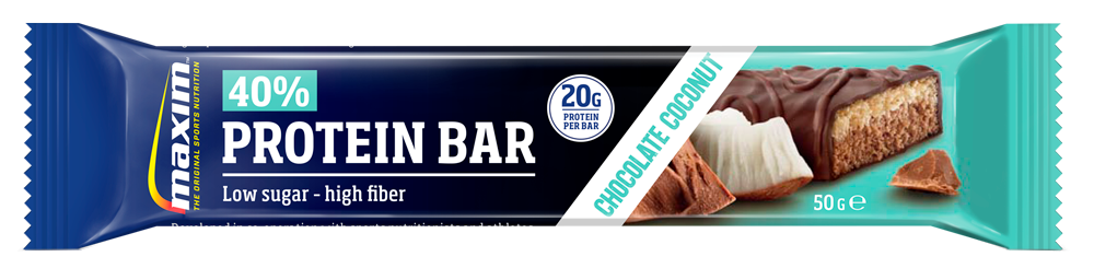 Afbeelding Maxim 40% Protein Bar Chocolate Coconut 50g.