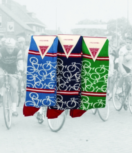 Le Patron Casual sokken 3 pack Bicycle socks
