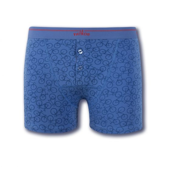 Afbeelding Le Patron Boxers Bicycle Army/Blue