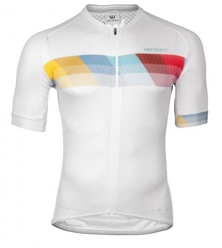 Vermarc Fietsshirt Korte mouwen Heren Wit / CHROMA Short Sleeves SUMMER - WHITE