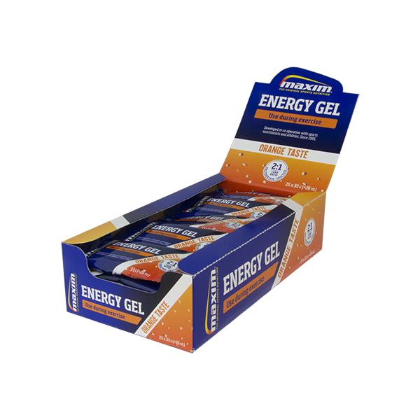 Afbeelding Maxim Energy Gel Orange (25x33 gr.) 20 + 5 gratis