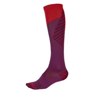 Endura Fietssokken Dames Bordeaux / Dames SingleTrack Sok - Mulberry