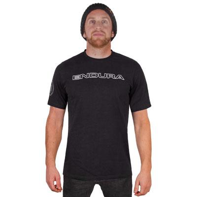 Endura Casual Fietskleding Heren Zwart - One Clan Carbon Tshirt Black
