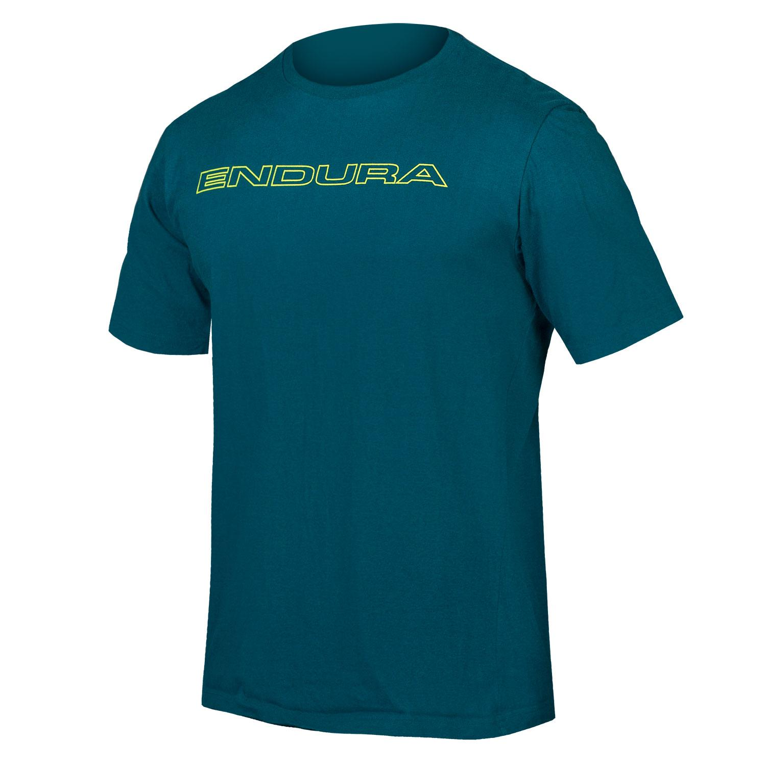Endura Casual shirt korte mouwen Heren Blauw / One Clan Carbon Tshirt: IJsvogel Blauw