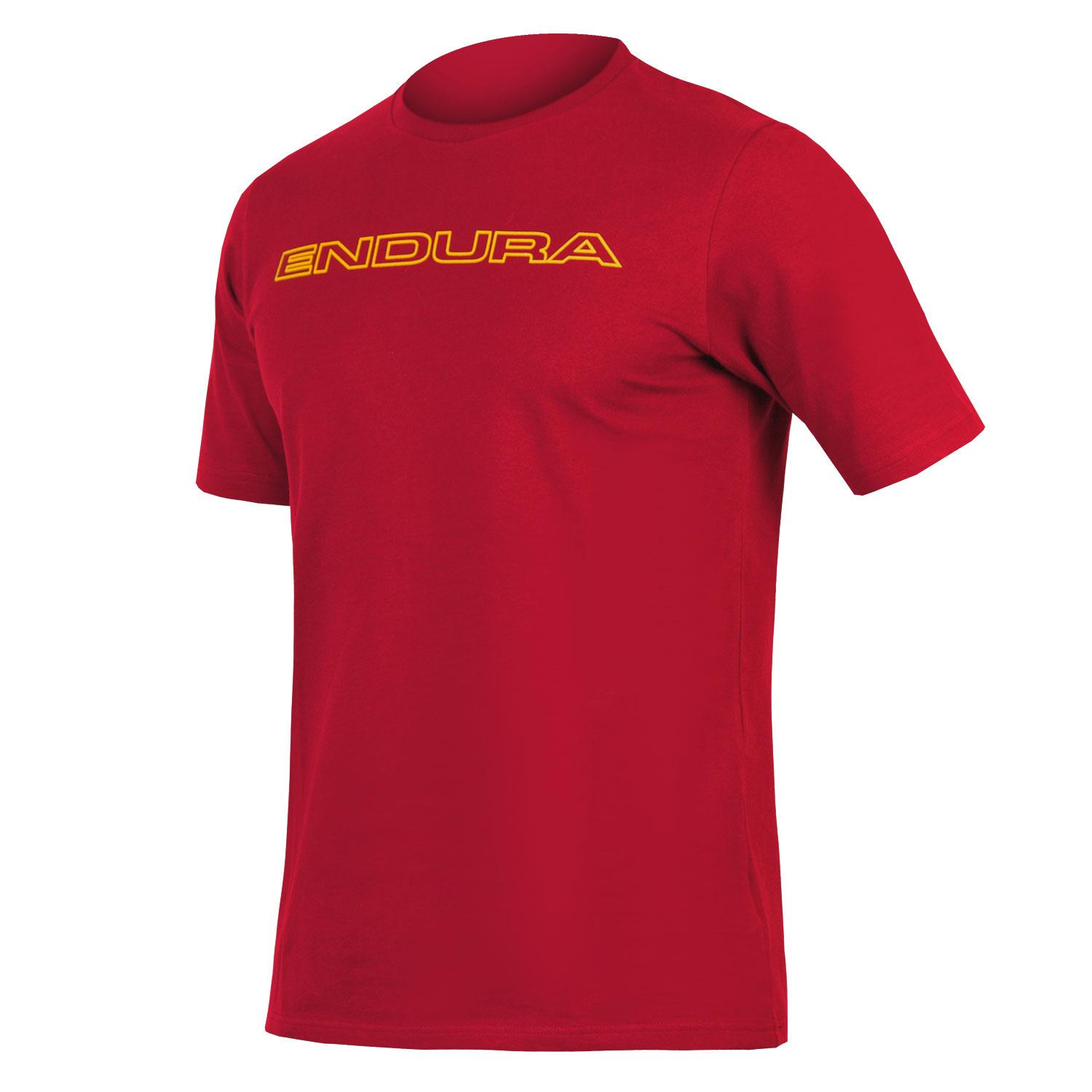 Endura Casual Fietskleding Heren Rood - One Clan Carbon Tshirt Roest Rood