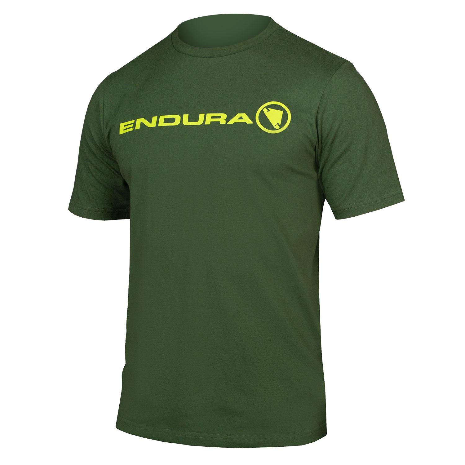 Endura Casual shirt korte mouwen Heren Groen / One Clan Light Tshirt: Bos Groen