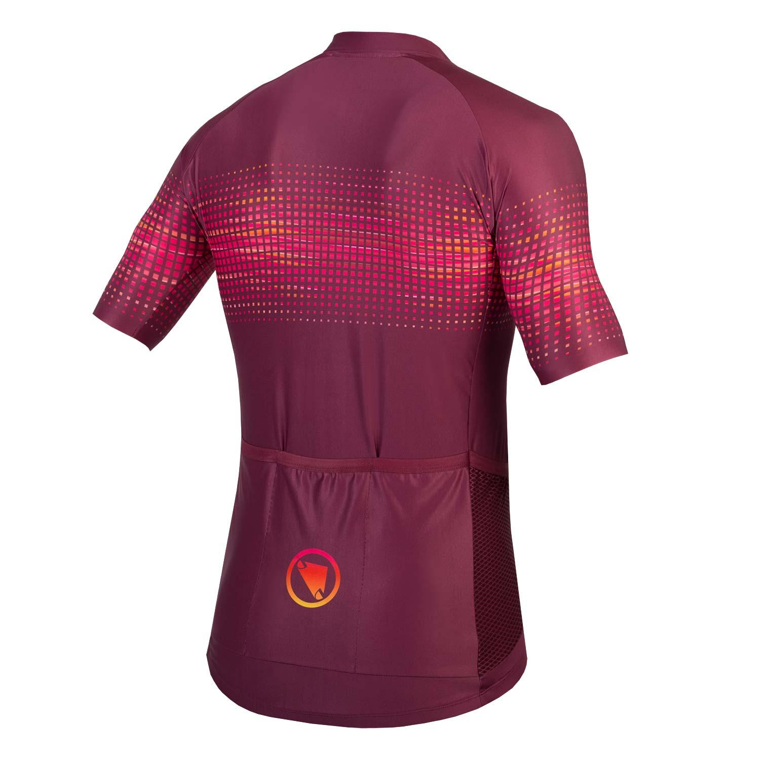 Endura Fietsshirt korte mouwen Heren Bordeaux / PT Wave S/S Shirt LTD - Mulberry