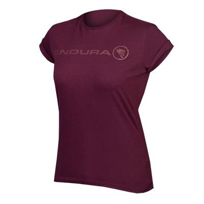 Endura Casual shirt korte mouwen Dames Paars / Women's One Clan Light T: Mulberry