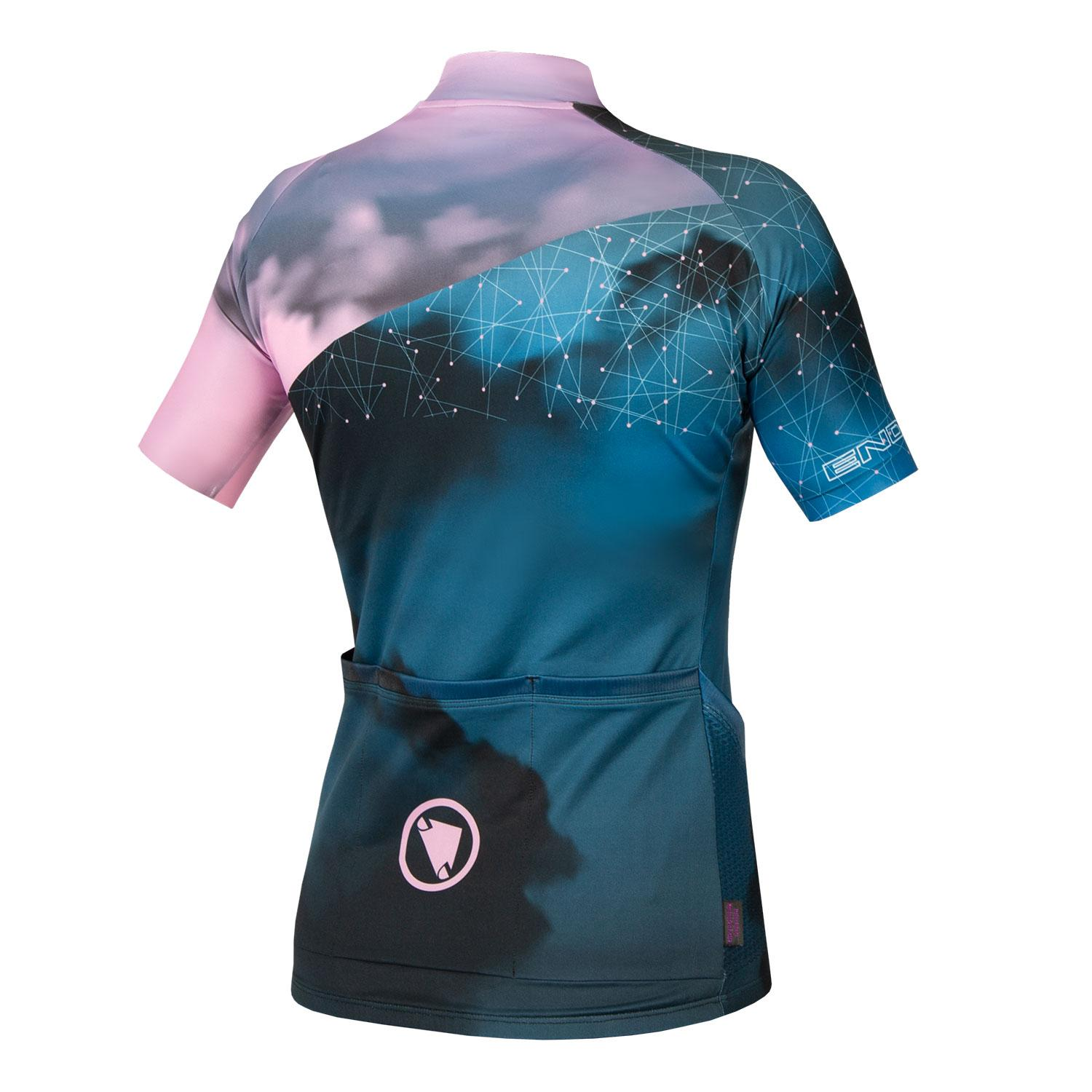 Endura Wielershirt Korte Mouwen voor Dames Blauw / Women's Cloud S/S Jersey LTD Blue