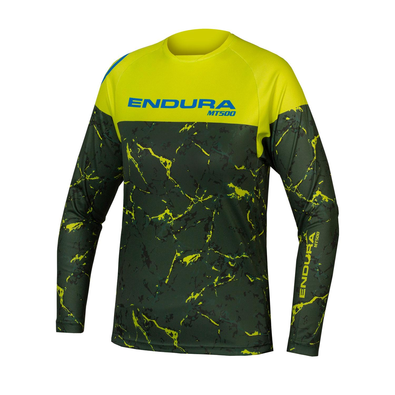 Endura Fietsshirt MTB Kids Groen - Kids MT500JR L/S T LTD Lime Groen