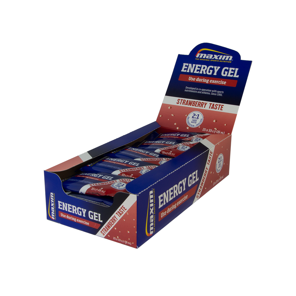 Afbeelding Maxim Energy Gel Strawberry (25x33 gr.) 20 + 5 gratis