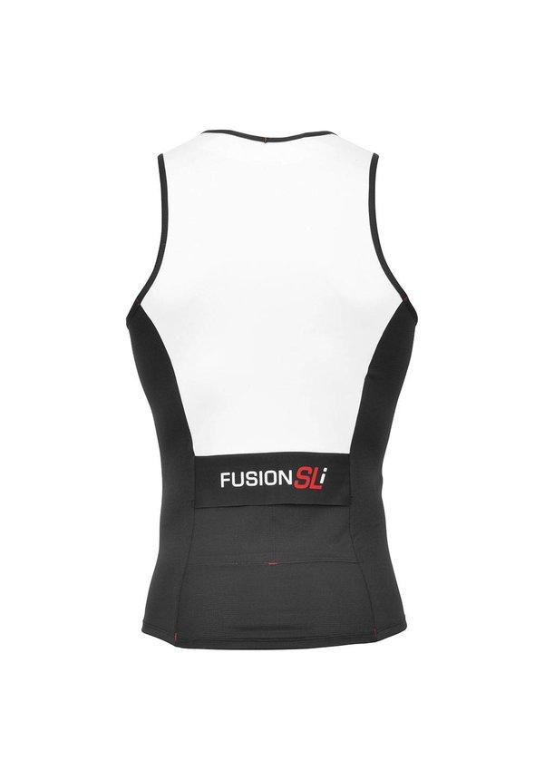Afbeelding Fusion Triathlon top Heren Wit / MENS SLI TRI TOP WHITE/BLACK