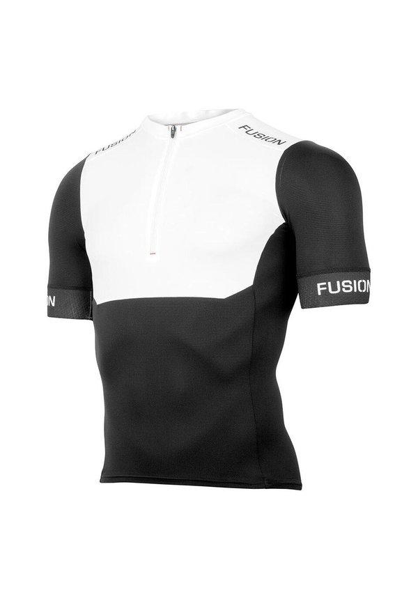 Afbeelding Fusion Triathlon top korte mouwen Unisex Wit / SLi TRI TOP SHORT SLEEVE WHITE/BLACK