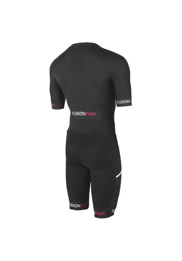 Afbeelding Fusion Triathlon snelpak Unisex Zwart / SPEED SUIT SUBLI BAND BLACK/BLACK