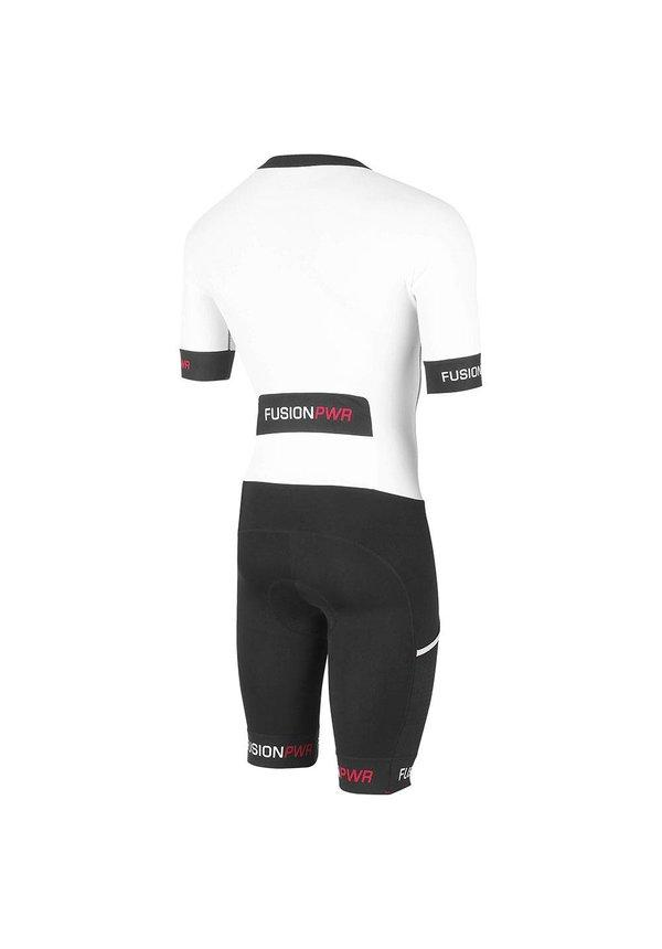 Afbeelding Fusion Triathlon snelpak Unisex Wit / SPEED SUIT SUBLI BAND WHITE/BLACK
