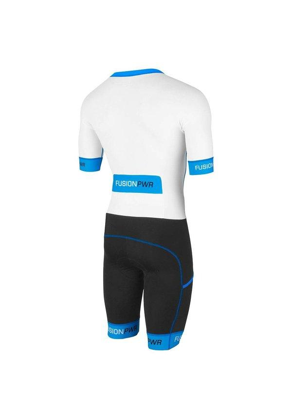Afbeelding Fusion Triathlon snelpak Unisex Wit / SPEED SUIT SUBLI BAND WHITE/SURF