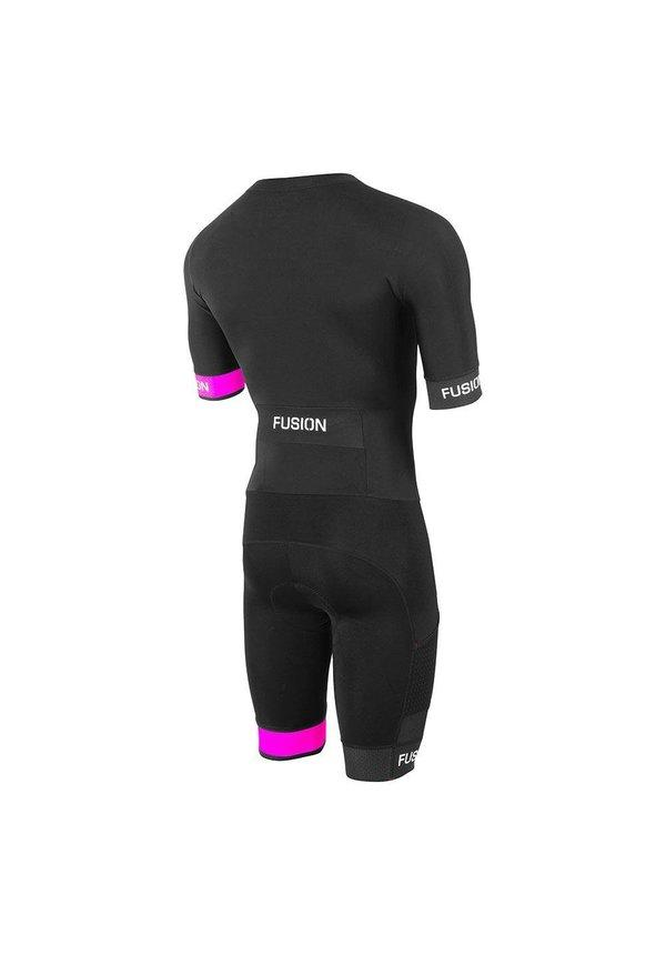 Fusion Triathlon snelpak Unisex Zwart / SPEED SUIT SUBLI BAND BLACK/FPINK