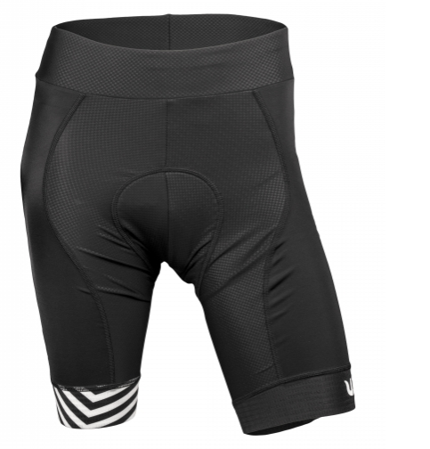 Vermarc fietsbroek zonder bretels Dames Zwart Wit / GRAFICA Women Non-Bib Short - Black