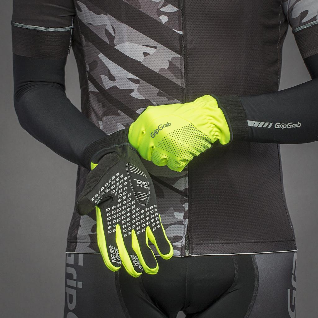 | GripGrab Fietshandschoenen winter winddicht Hi-vis Fluo  / Ride Windproof Hi-Vis Winter Glove Fluo Yellow