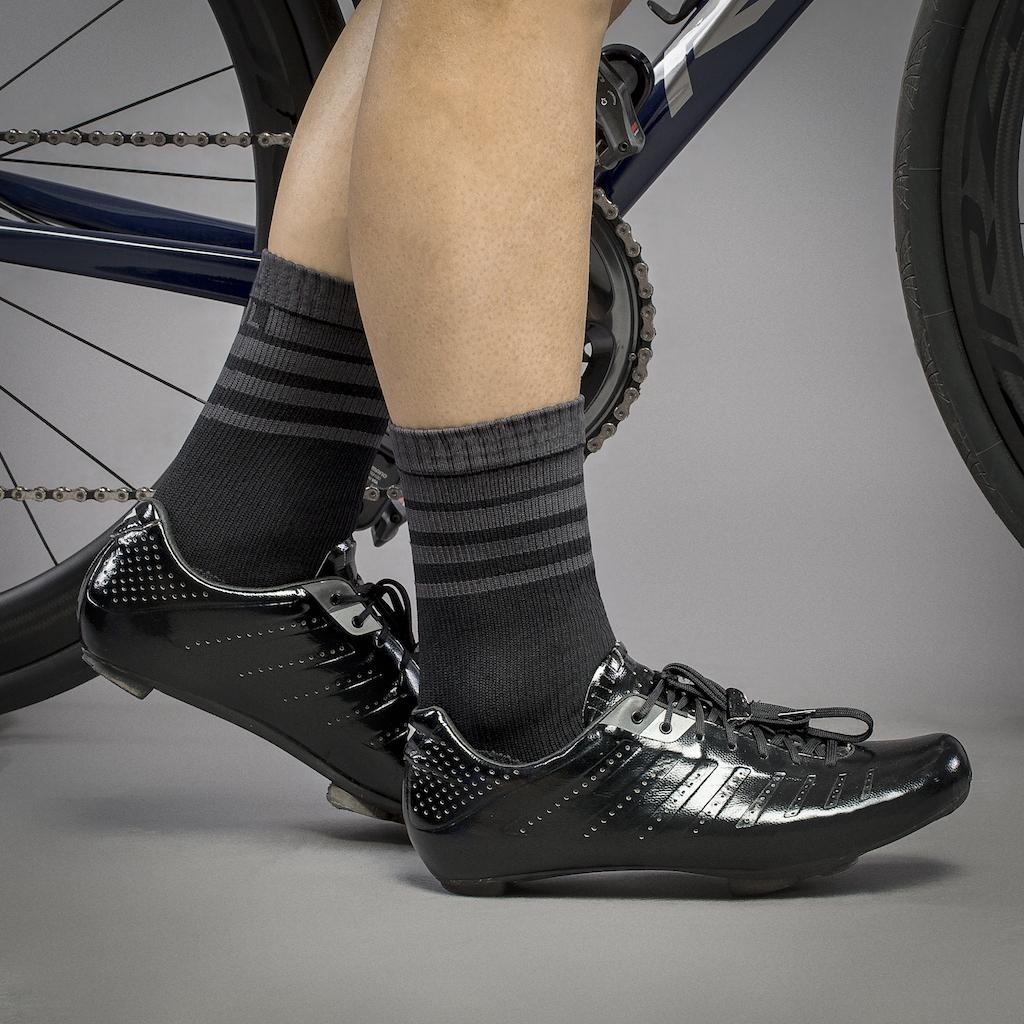 GripGrab Fietssokken winter waterdicht Zwart  / Waterproof Merino Thermal Sock Black