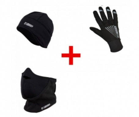 Helmmuts 21Virages & Fietshandschoen winter windstop & facemask 21Virages