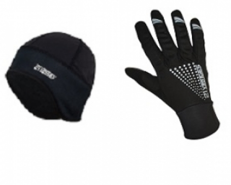 21Virages Fietshandschoen Winter Windstop MTB + Helmmuts Windprotect