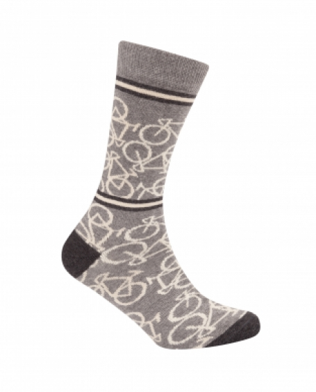 Le patron Casual sokken 3 pack Bicycle socks grey