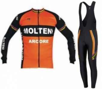 Molteni Arcore retro fietskleding set winter