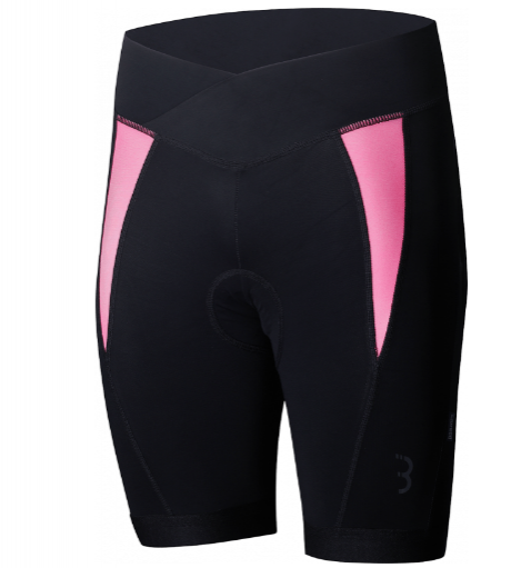 Afbeelding BBB fietsbroek dames / BBB Shorts Omnium Black/Hot Pink