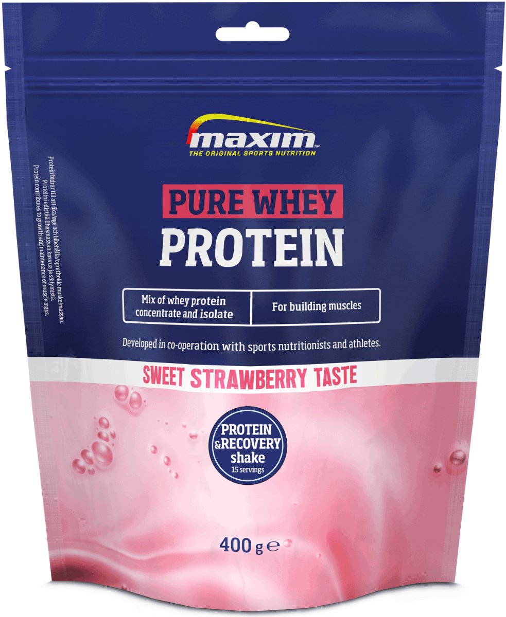Afbeelding Maxim Protein & Recovery Shake Strawberry 400g