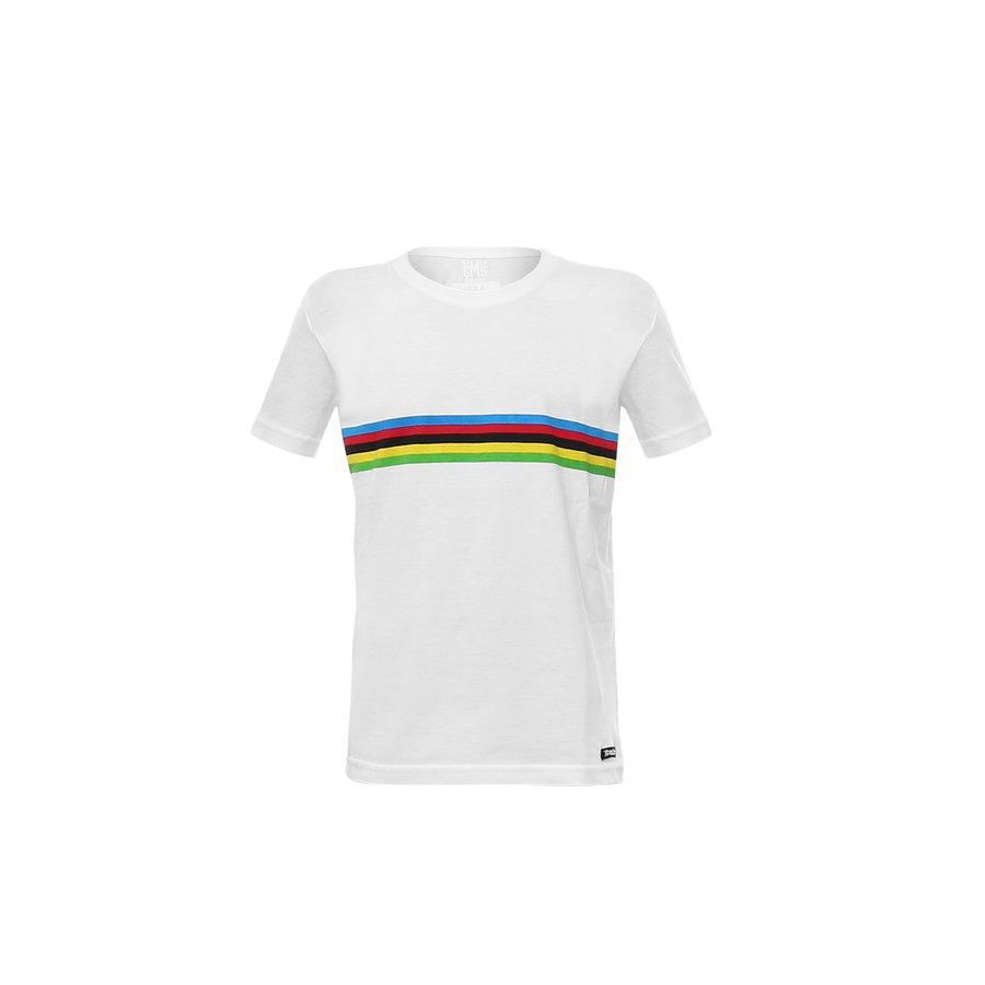 Santini Casual t-shirt Wit Kids - UCI T-Shirt Cotton Kids White