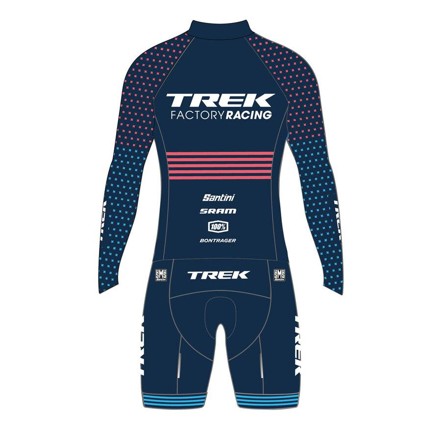 Santini Snelpak Heren - Trek Factory Racing CX Design - Cyclocross Skinsuit Nautica Blue