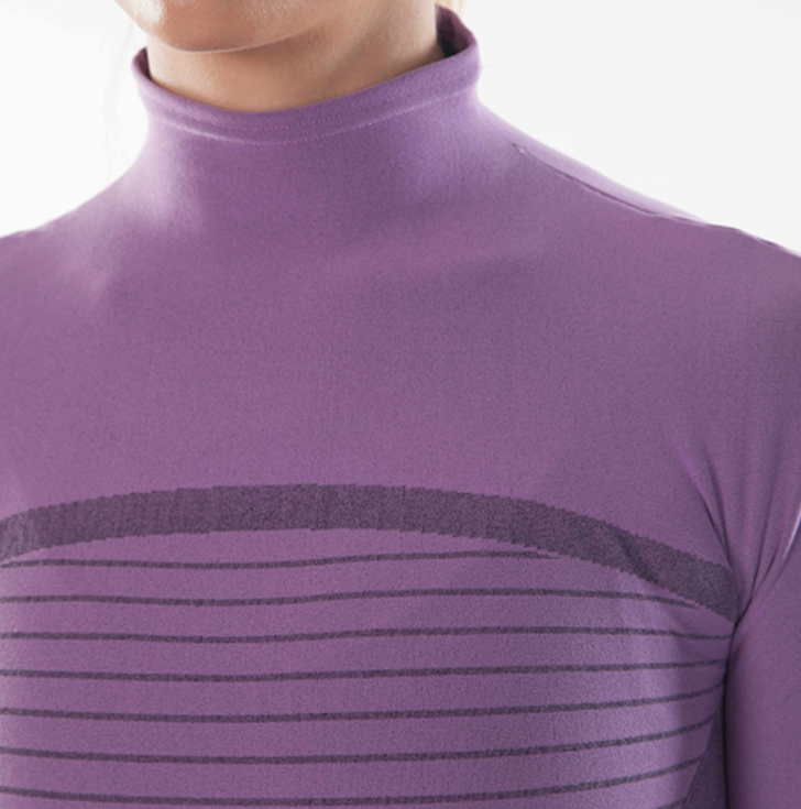 Megmeister Running High Neck Base Layer Woman Lilac