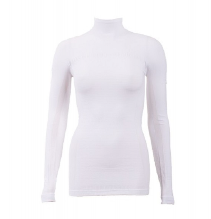 Megmeister Running High Neck Base Layer Woman White