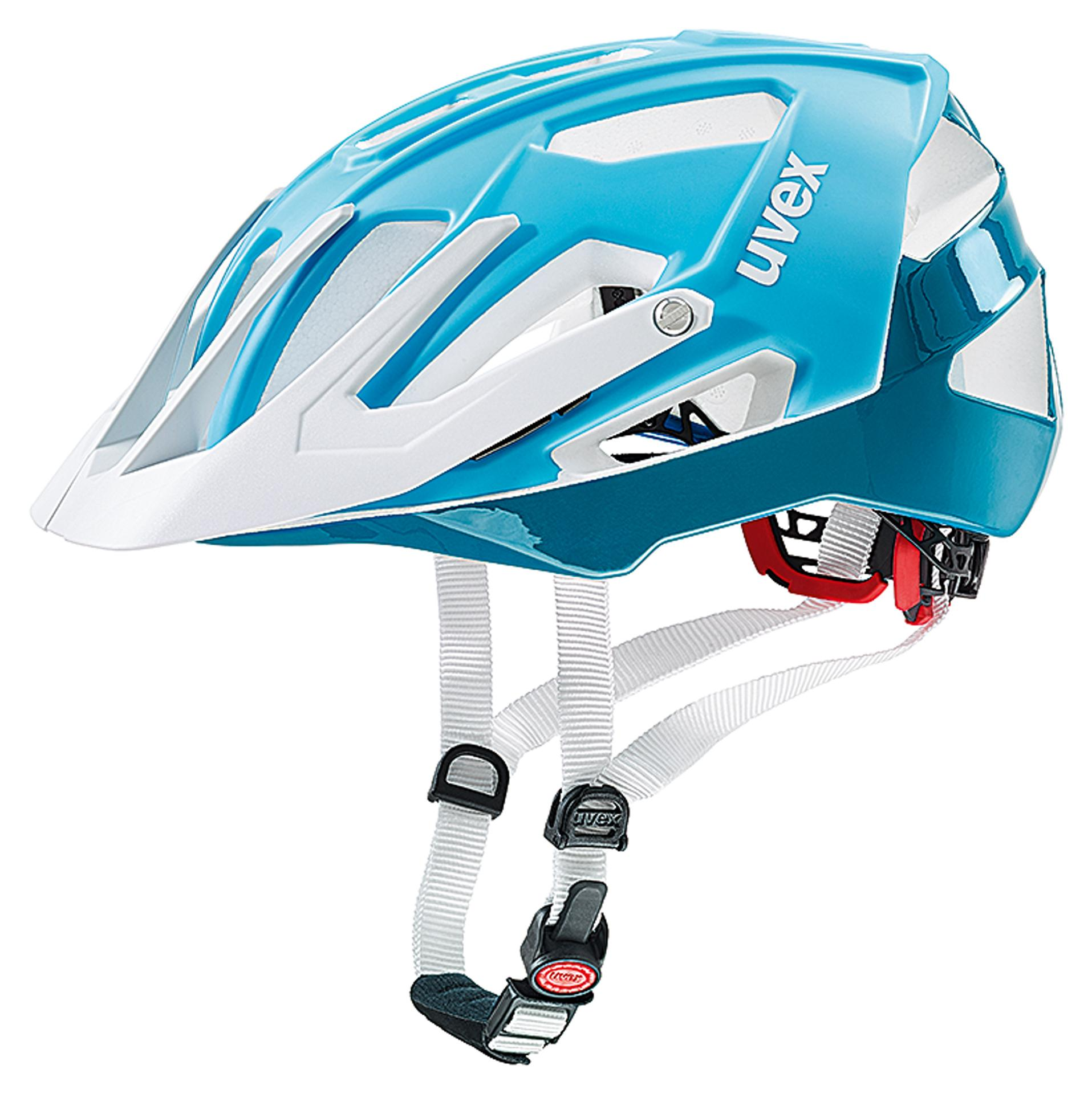 Uvex Fietshelm unisex Blauw Wit / UV Quatro Lightblue White