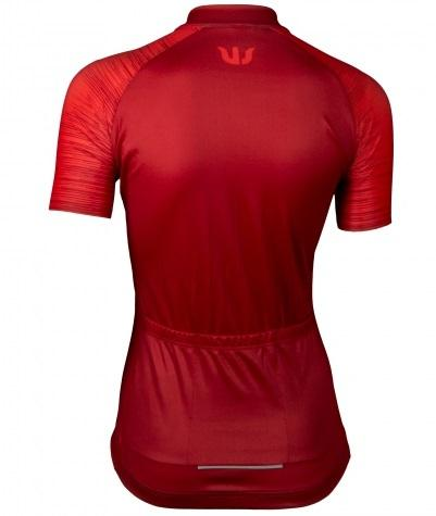 Vermarc Fietsshirt Korte mouwen Dames Bordeaux / SEISO Short Sleeves AERO ? Bordeau/Red