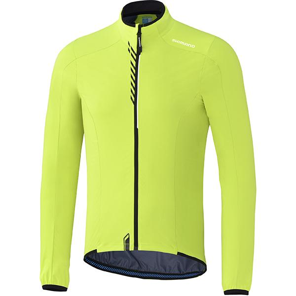 Afbeelding Shimano Performance stretchable windbreak fietsjack winddicht neon geel heren