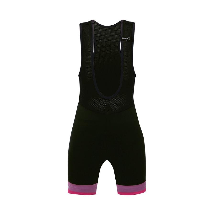 Santini Fietsbroek kort met bretels - koersbroek Zwart Kids - GS Bib-Shorts Kids Black