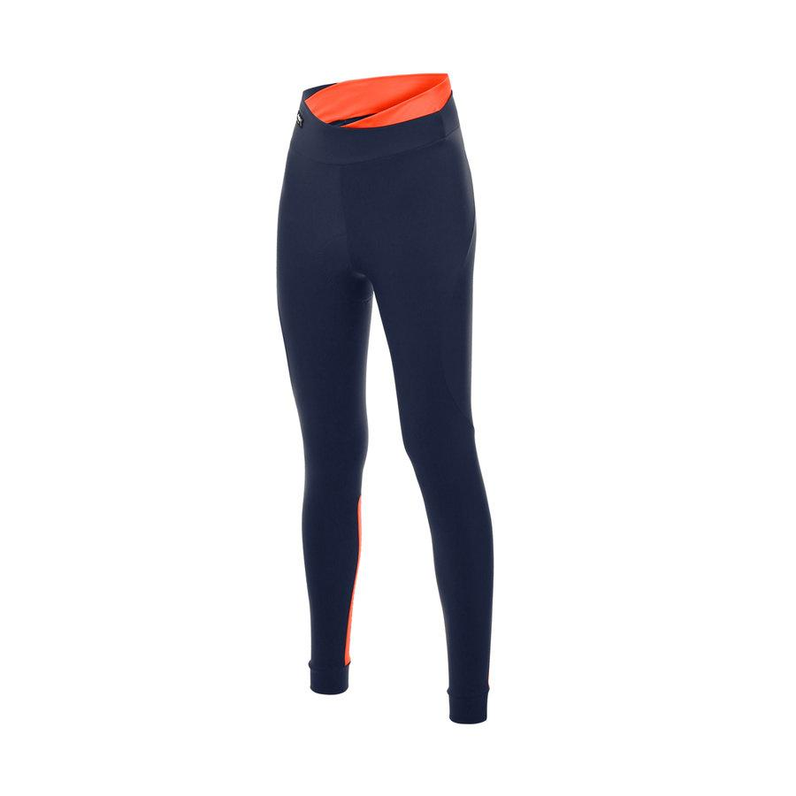 Santini Fietsbroek kort zonder bretels Fluo Oranje Dames - Sfida Tights Orange Fluo