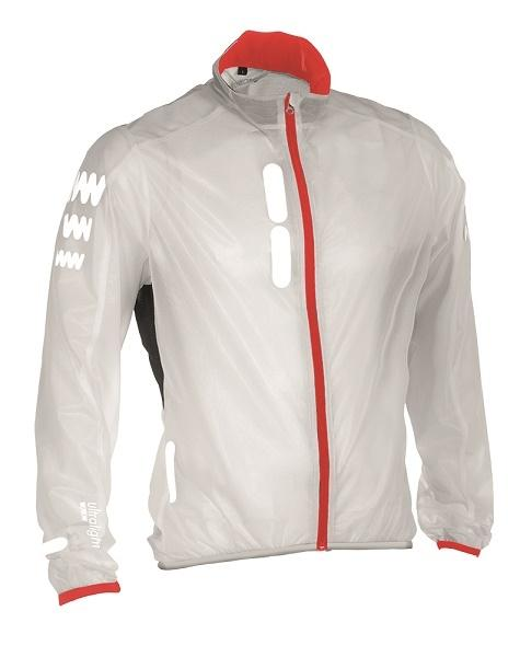 Afbeelding Wowow Ultralight Supersafe White/Red Edition / Wind/Regenjack wit/rood