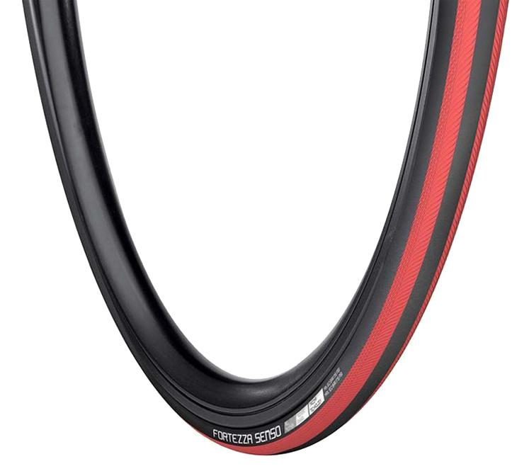 Vredestein Racefiets buitenband Fortezzo Senso All Weather Zwart rood