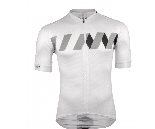 Vermarc Fietsshirt korte mouwen Heren Wit Zwart / WINN Short Sleeves SUMMER New - White