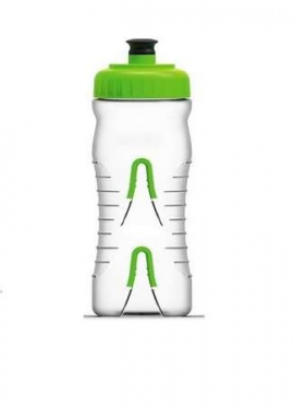 Fabric water bottle 600ml transparant green